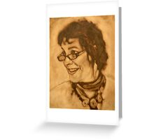 The Jill block-in in raw umber Greeting Card