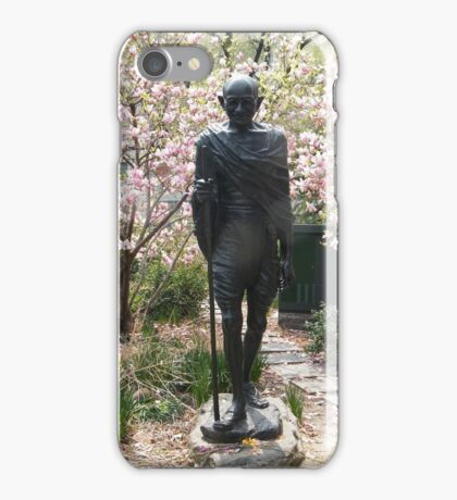 Gandhi Statue, Union Square, New York City iPhone Case/Skin