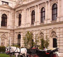 Horsing around the Burgtheater in Vienna, Austria by Jekusha