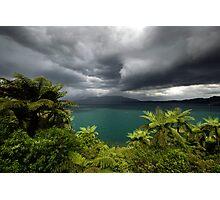 Massive storm about to hit Rotorua Photographic Print