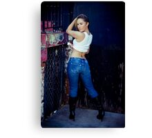 Tina in Blue Jeans-5 Canvas Print