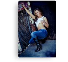 Tina in Blue Jeans-3 Canvas Print