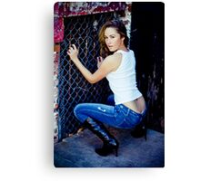 Tina in Blue Jeans-2 Canvas Print