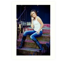 Tina in Blue Jeans-1 Art Print