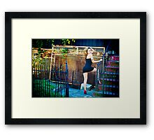 Tina-Little Black Dress-4 Framed Print
