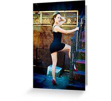 Tina-Little Black Dress-3 Greeting Card