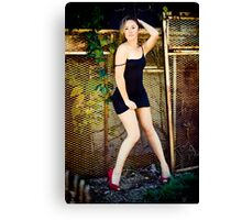 Tina-Little Black Dress-2 Canvas Print