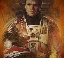 The Martian Matt Damon by SpiderReviewer