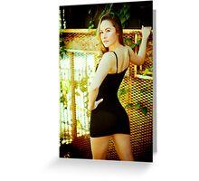 Tina-Little Black Dress-1 Greeting Card