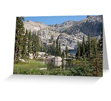 Small lake at valley's end Greeting Card