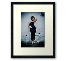 Tina-Black Tights-1 Framed Print
