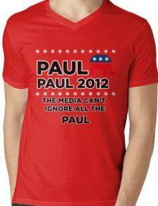 """Paul-Paul 2012 - """"The Media Can't Ignore All The Paul"""" Mens V-Neck T-Shirt"""
