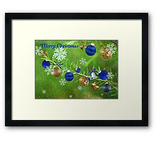 Merry Christmas 2011-Blue Framed Print