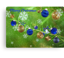 Merry Christmas 2011-Blue Canvas Print