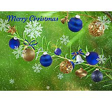 Merry Christmas 2011-Blue Photographic Print