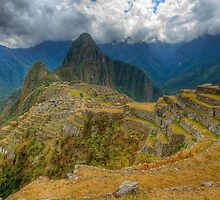 Machu Picchu from the Terraces, Peru by strangelight