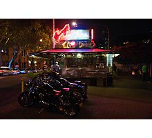 Harleys At Harry's Photographic Print