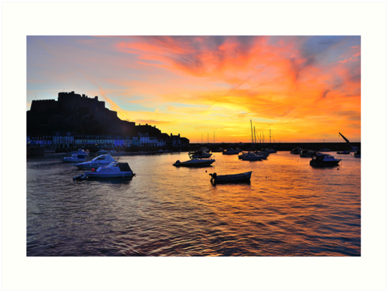 Gorey Harbour Sunrise by Mark Bowden