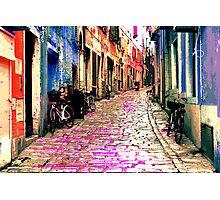 The Essence of Croatia - Rovinj Narrow Street Photographic Print