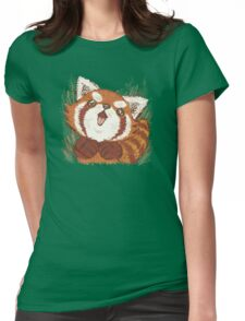 Joy of Red panda Womens Fitted T-Shirt