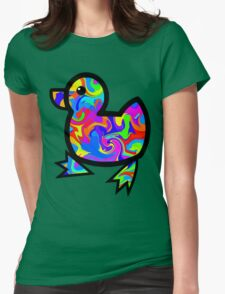 Colorful Duck Womens Fitted T-Shirt