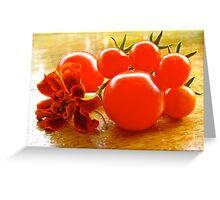 Tomatoes Greeting Card