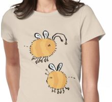 two bumblebees meeting Womens Fitted T-Shirt