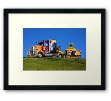Heavy transport in light bright colour Framed Print