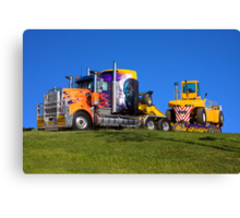 Heavy transport in light bright colour Canvas Print