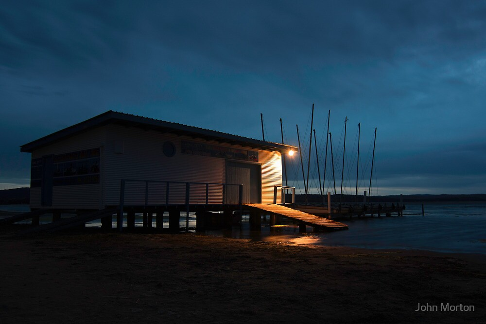 Twilight at the Boat Shed by John Morton