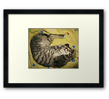 Kitten dreaming♥ Framed Print