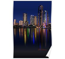 Twilight in Surfers Paradise Poster