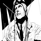 Kenneth Moore as Douglas Bader by Michael Birchmore