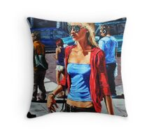 Blonde, Aviators Throw Pillow