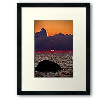 Sunset Heaven. Framed Print