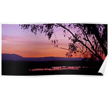 A Sunset at Town Common Poster
