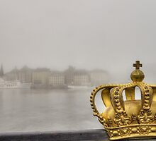Golden crown and misty city. by cloud7