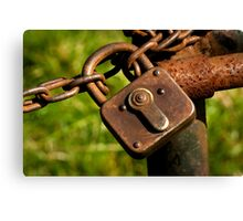 Locked ~ Unlock me!  Canvas Print