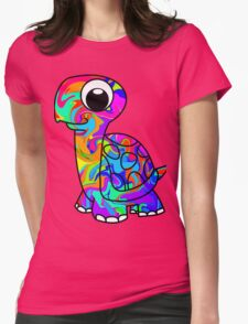 Colorful Tortoise Womens Fitted T-Shirt