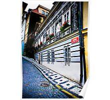 Prague Street Scene Poster