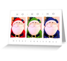 Ho, Ho, Ho! Colourful Santa Greeting Card
