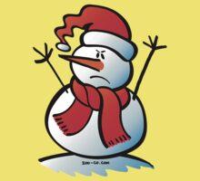 Angry Snowman Kids Tee