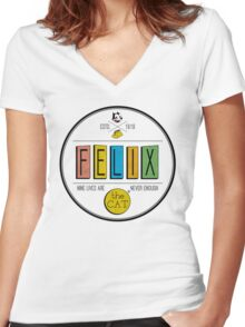 nine lives are never enough. Women's Fitted V-Neck T-Shirt