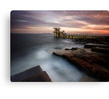 Divers Platform - Salthill Co. Galway Ireland Canvas Print