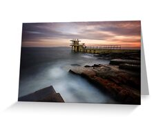 Divers Platform - Salthill Co. Galway Ireland Greeting Card