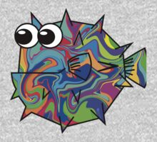 Colorful Pufferfish Kids Tee