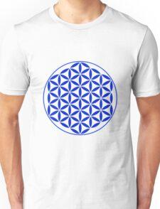 Flower of Life - Blue Unisex T-Shirt