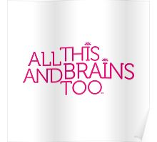 Prince Batdance All This and Brains Too (White) Poster
