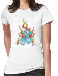Flaming Birds Womens Fitted T-Shirt