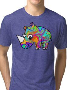 Colorful Rhino Tri-blend T-Shirt